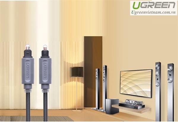 Kết quả hình ảnh cho Cáp audio quang có độ dài 2m vỏ nhựa Chính hãng Ugreen 10770