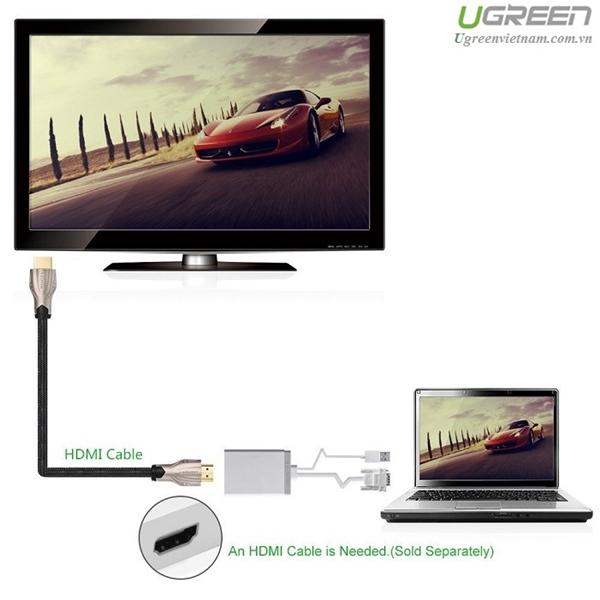 Cáp VGA to HDMI , Cáp chuyển đổi VGA to HDMI + Audio chính hãng