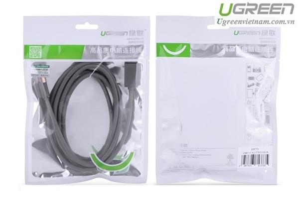 Cáp USB 2.0 to USB Mini 25cm mạ vàng Ugreen 10353 Chính hãng